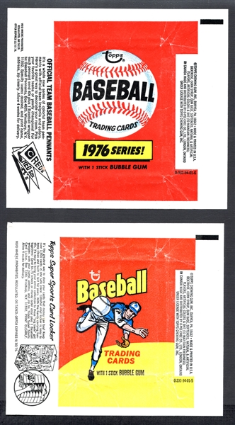 1975 and 1976 Topps Baseball Wrappers