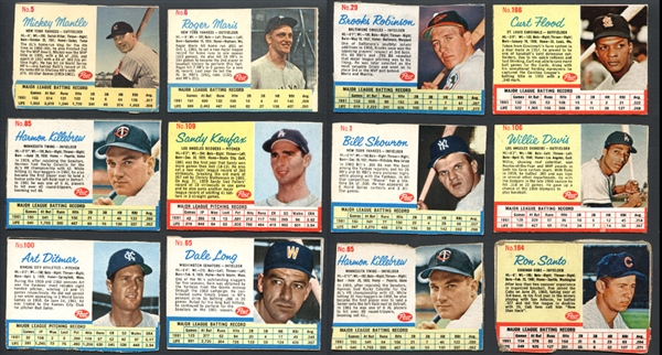 1961-64 Baseball Shoebox Group of (78) with Stars and HOFers