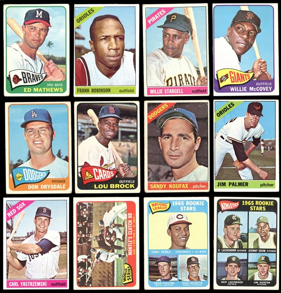 1965-66 Topps Baseball Group of (87) with Stars and HOFers