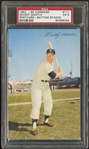 1953-55 Dormand #111 Mickey Mantle Postcard Batting Stance PSA 5 EX