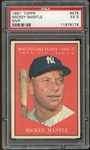 1961 Topps #475 Mickey Mantle MVP PSA 5 EX