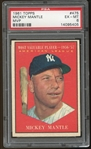 1961 Topps #475 Mickey Mantle MVP PSA 6 EX-MT
