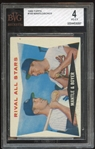 1960 Topps #160 Mickey Mantle Ken Boyer Rival All Stars BVG 4 VG-EX