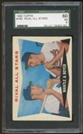 1960 Topps #160 Mickey Mantle Ken Boyer Rival All Stars SGC 5 EX