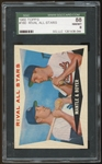 1960 Topps #160 Mickey Mantle Ken Boyer Rival All Stars SGC 8 NM-MT