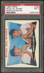 1960 Topps #160 Mickey Mantle Ken Boyer Rival All Stars PSA 7 NM