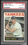 1964 Topps #50 Mickey Mantle PSA 4 VG-EX