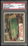1961 Topps #406 Mickey Mantle HL PSA 8 NM-MT