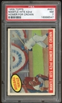 1959 Topps #461 Mickey Mantle Hits For The Crown PSA 7 NM