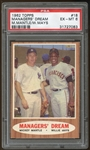 1962 Topps #18 Mickey Mantle Willie Mays Managers Dream PSA 6 EX-MT