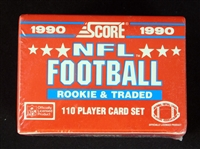 1990 Score Supplemental Football Rookie and Traded Unopened Factory Set