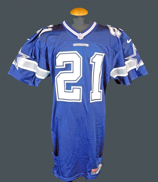 Deion Sanders Signed Dallas Cowboys Game-Issued Jersey JSA