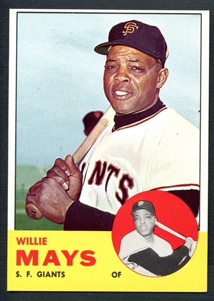 1963 Topps #300 Willie Mays