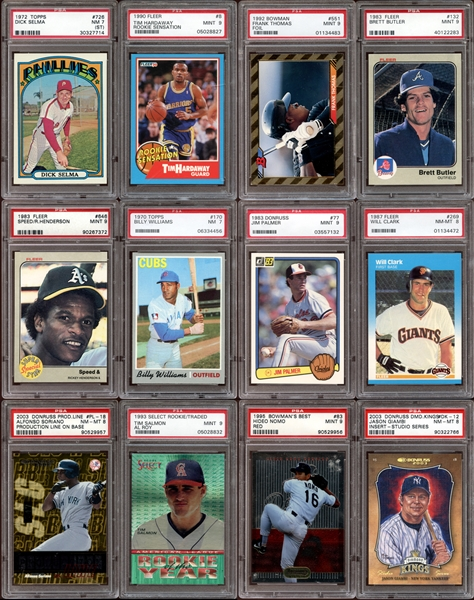 1970s-2000s Baseball Card Grab Bag Group of (24) All PSA Graded