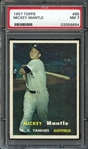 1957 Topps #95 Mickey Mantle PSA 7 NM