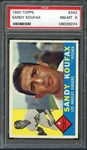 1960 Topps #343 Sandy Koufax PSA 8 NM-MT