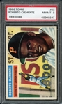 1956 Topps #33 Roberto Clemente PSA 8 NM-MT