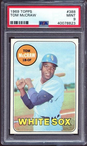 1969 Topps #388 Tom McCraw PSA 9 MINT