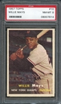 1957 Topps #10 Willie Mays PSA 8 NM-MT
