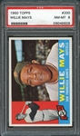 1960 Topps #200 Willie Mays PSA 8 NM-MT