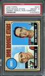 1968 Topps #247 Reds Rookie Stars Johnny Bench, Ron Tomkins PSA 8 NM-MT
