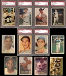 1957 Topps Baseball Complete Set with PSA Graded and Checklist 4/5
