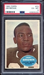 1960 Topps #23 Jim Brown PSA 6 EX/MT