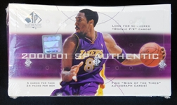 2000-01 SP Authentic Basketball Unopened Wax Box