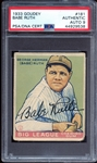 1933 Goudey #181 Babe Ruth Autographed PSA/DNA AUTO 9 MINT