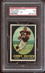 1958 Topps Football Unopened Cello Pack with Jim Brown on Top PSA 7 NM