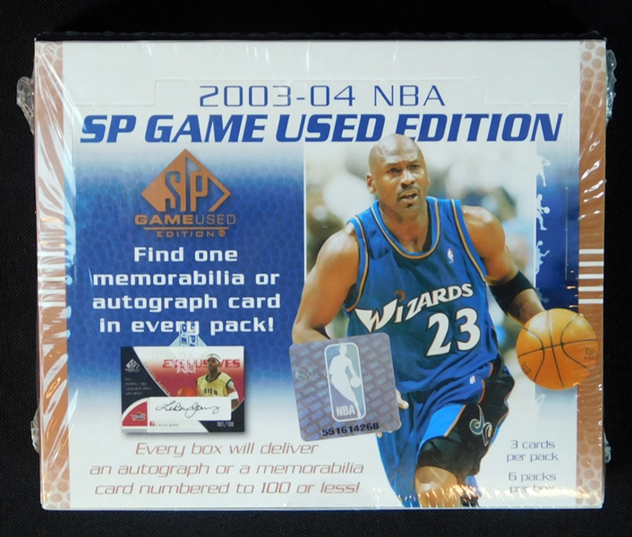 2003-04 SP Game Used Edition Basketball Unopened Hobby Box
