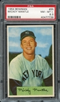 1954 Bowman #65 Mickey Mantle PSA 8.5 NM-MT+