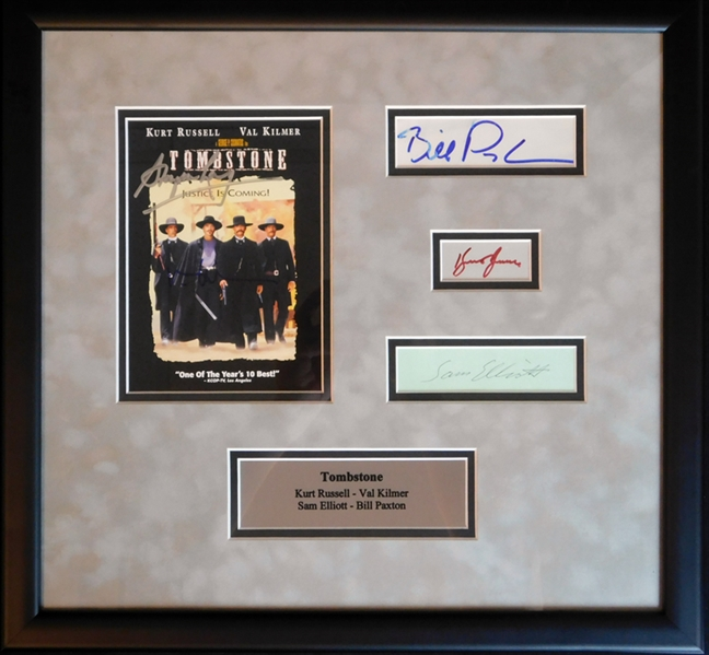 """Tombstone"" Cast Multi-Signed Display Piece with (4) Signatures"