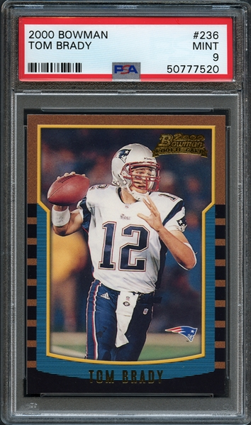 2000 Bowman #236 Tom Brady PSA 9 MINT