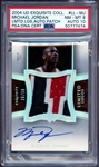 2004 UD Exquisite Collection #LL-MJ Michael Jordan Limited Logos Auto Patch 20/50 PSA 8 PSA/DNA Auto 10