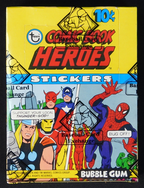 1975 Topps Comic Book Heroes Unopened Wax Box BBCE
