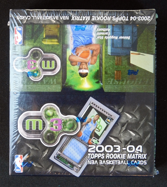 2003-04 Topps Rookie Matrix NBA Unopened Retail Box