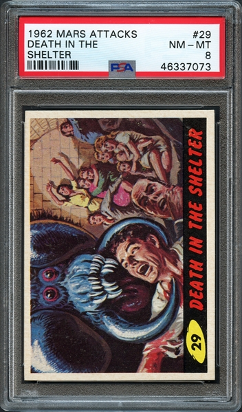 1962 Mars Attacks #29 Death in the Shelter PSA 8 NM-MT