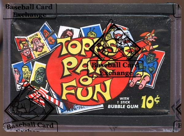 1969 Topps Pak O Fun Unopened Wax Pack BBCE