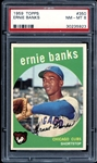 1959 Topps #350 Ernie Banks PSA 8 NM/MT