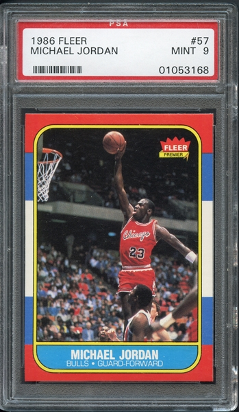 1986-87 Fleer #57 Michael Jordan PSA 9 MINT