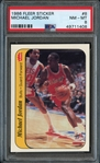 1986 Fleer Sticker #8 Michael Jordan PSA 8 NM-MT
