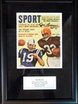 Jim Brown Signed Magazine Cover SGC