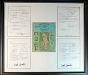 Otto Graham Golf Classic Multi-Signed Display Piece with (65) Signatures JSA