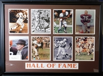 Cleveland Browns Hall of Fame Signed Photos and Cut in Framed Display (8) JSA/SGC