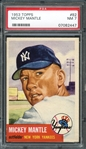1953 Topps #82 Mickey Mantle PSA 7 NM