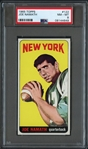 1965 Topps #122 Joe Namath PSA 8 NM-MT