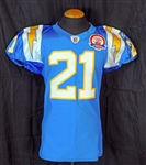 2009 LaDanian Tomlinson San Diego Chargers Game-Used Jersey Dated to September 14, 2009 with Chargers Team LOA