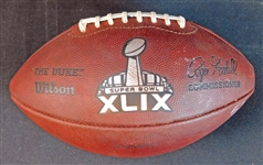 2015 New England Patriots Offense Super Bowl XLIX Game-Used Football with Robert and Jonathan Kraft LOA (JSA)