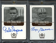 1999 Upper Deck Epic Signatures Lot of (2) - Gale Sayers and Roger Staubach